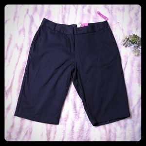 NWT Izod Girls Bermuda Uniform Shorts Size 16